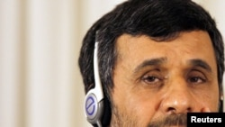Iranian President Mahmud Ahmadinejad in Istanbul on June 8