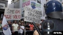 Antigay prosvjed u Zagrebu, 13. jun 2009. Foto: zoozg