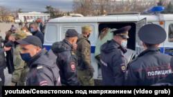 Затримання на мітингу 23 січня 2021 року у Севастополі
