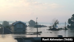 Floods in the town of Tulun in the Irkutsk region.