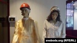 Муляжы працаўнікоў АЭС