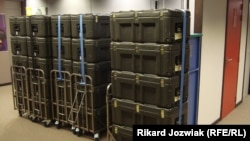 Thousands of cases of material are carted back and forth between Strasbourg and Brussels each month
