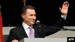 Մակեդոնիայի վարչապետ, Պահպանողական կուսակցության առաջնորդ Նիկոլա Գրուևսկի, Սկոպյե, 28-ը ապրիլի, 2014թ․