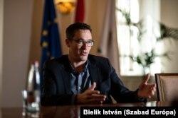 Karácsony Gergely főpolgármester, a Párbeszéd, az MSZP és az LMP miniszterelnök-jelöltje
