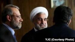 حسن روحانی و علی لاریجانی، رئیس مجلس شورای اسلامی.