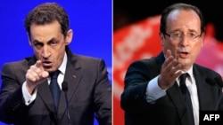 Кандидаты в президенты Франции - Николя Саркози и Франсуа Олланд