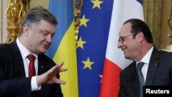 Francois Hollande və Petro Poroshenko