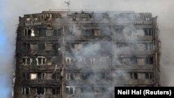Пожар во 27 катниот Гренфил во Лондон