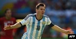 Lionel Messi Argentina millisinin formasında