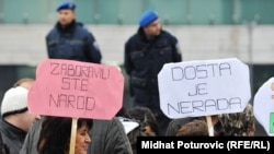 Sa jednog od protesta u BiH