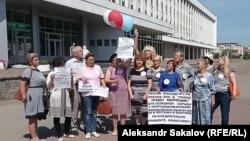 Инициативная группа жителей Томска записывает обращение к Путину (архивное фото)