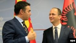 Mинистерот за надворешни работи Никола Димитров и министерот за надворешни работи на Албанија, Дитмир Бушати, 25, јули, 2017