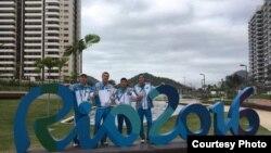 Казахстанские спортсмены в Рио-де-Жанейро, 26 июля 2016 года.