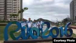 Казахстанские боксеры в олимпийской деревне в Рио-де-Жанейро. 29 июля 2016 года.