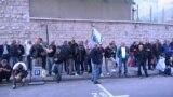 Bosniýa-Herzegowina. Uruş weteranlary protest bildirýär. Arhiw suraty