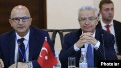Armenia - Senior Turkish diplomats attend a Black Sea Economic Cooperation meeting in Yerevan, 27 June 2018.