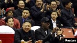 Foto e liderit të Koresë së Veriut dhe basketbollistit Denis Rodman