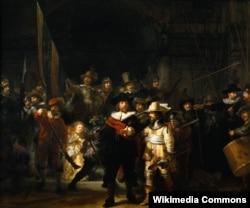 """Картина Рембрандта """"Ночной дозор"""""""
