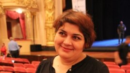 Brazil -- Khadija Ismayilova, a journalist of Radio Free Europe, awarded the Global Shining Light Award, Rio de Janeiro, 15Oct2013