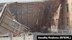 Neftçala, Xıllı qəsəbəsində orta məktəb, küləyin uşurduğu dam, 31 mart 2017