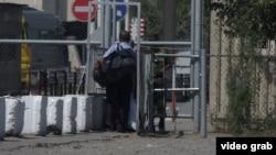 КПП на границе Узбекистана и Кыргызстана