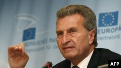 EU Energy Commissioner Guenther Oettinger (file photo)