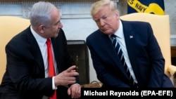 Трамп и Нетаньяху в Овальном кабинете Белого дома, 27 января 2020