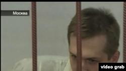 """Владимир Макаров, осужденный на 13 лет за педофилию. Кадр из программы """"Вести"""""""