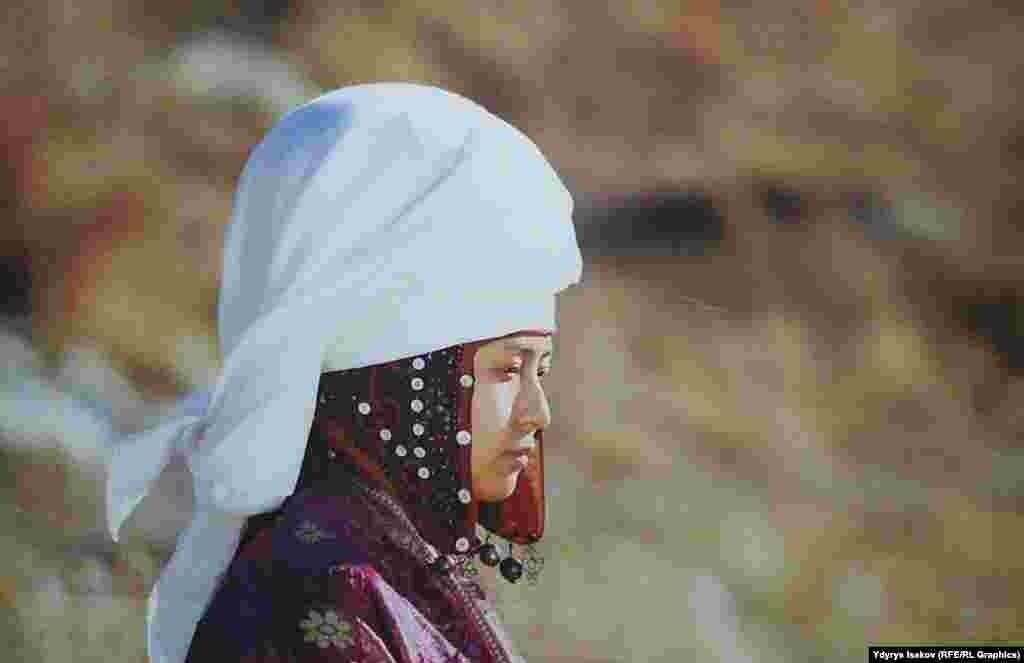 Кашкарлык кыргыздардын элечеги. Жаш келин