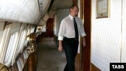 Putin prezident təyyarəsind. 7 sentyabr 2006-cı il.