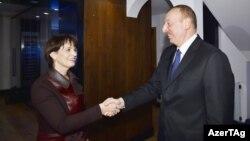 İlham Əliyev və Doris Leuthard