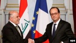 العبادي مع الرئيس الفرنسي فرانسوا اولاند