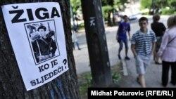 Bosnia-Herzegovina - Protest against violence in Sarajevo, 9May.2012.