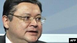 Марат Тәжин Қазақстанның сыртқы істер министрі кезінде. 4 желтоқсан 2008 жыл.