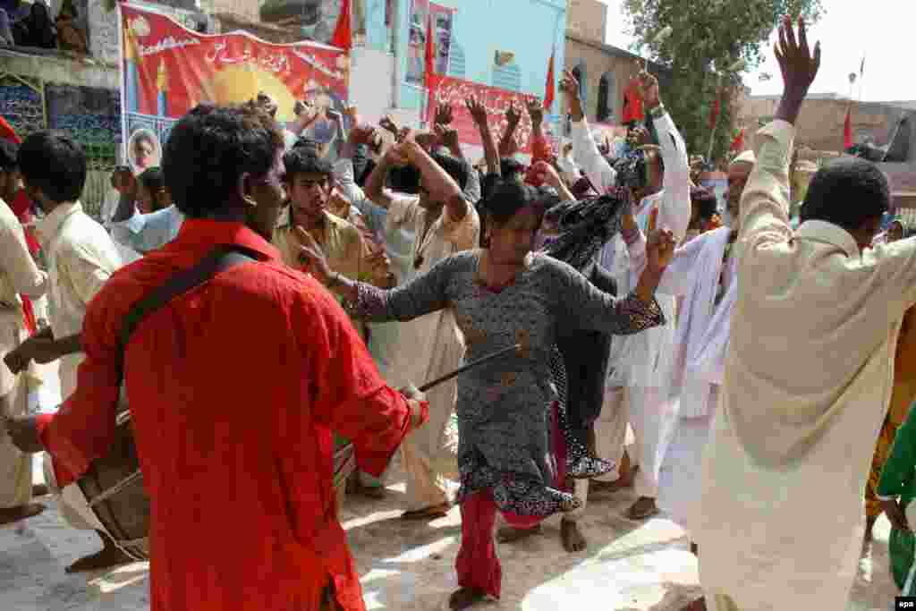 A devotee dances during the annual festival at the Lal Shahbaz Qalandar Shrine in 2013. In November 2016, 45 people were killed in a bombing attack inside another Sufi shrine in southern Pakistan, and in June 2016, a revered Sufi musician was shot dead inside his car in Karachi, Pakistan.