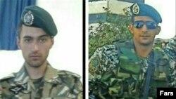 از راست: صادق شیبک و حسین همتی، دو تکاور ارتش ایران که اخیرا در جنگ داخلی سوریه کشته شدهاند.