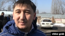 Шыңғыс, қырғыз нөмірлі көлік иесі. Алматы, 12 наурыз 2014 жыл.
