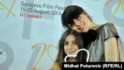 Una Gunjak i Iman Alibalić sa nagradom Srce Sarajeva za najbolji kratki film na SFF 2014.