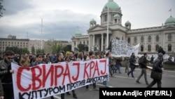 Protest u Beogradu: 'Dole diktatura'