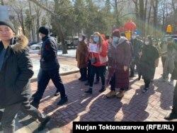 Традиционный мирный марш в Бишкеке. 28 февраля 2021 г.