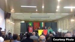 جانب من جلسات المؤتمر القومي الكردي في بروكسل