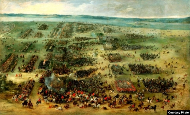 Карціна Пітэра Снаерса, прысьвечаная бітве 1605-га года пад Кірхгольмам, 1630 год