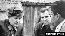 Владлен Давыдов (в центре) на съемочной площадке, 1967