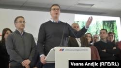 Aleksandar Vučić se obraća naprednjacima nakon beogradskih izbora (mart 2018)