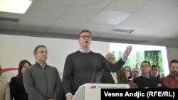 Aleksandar Vučić i Nebojša Srefanović u Srpskoj naprednoj stranci, mart 2018.