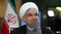 Իրանի նախագահ Հասան Ռոհանին հարցազրույց է տալիս IRIB պետական հեռուստաալիքի ուղիղ եթերում, Թեհրան, 2-ը օգոստոսի, 2016թ․