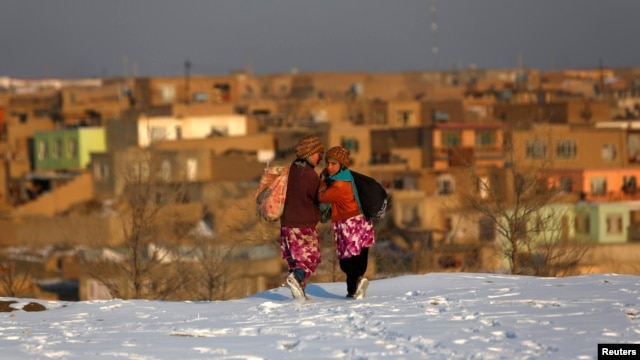 Afghanistan has been blanketed in snow in recent days.
