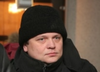 Stanislav Dmitrievsky, the head of the Russian-Chechen Friendship, in court in February (ITAR-TASS)