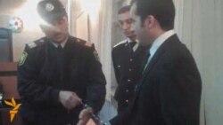 Bəxtiyar Hacıyevin məhkəməsindən görüntülər