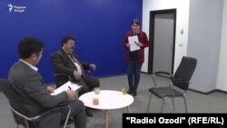 Курсии холии меҳмони дебати интихоботӣ аз Ҳизби халқии демократии Тоҷикистон